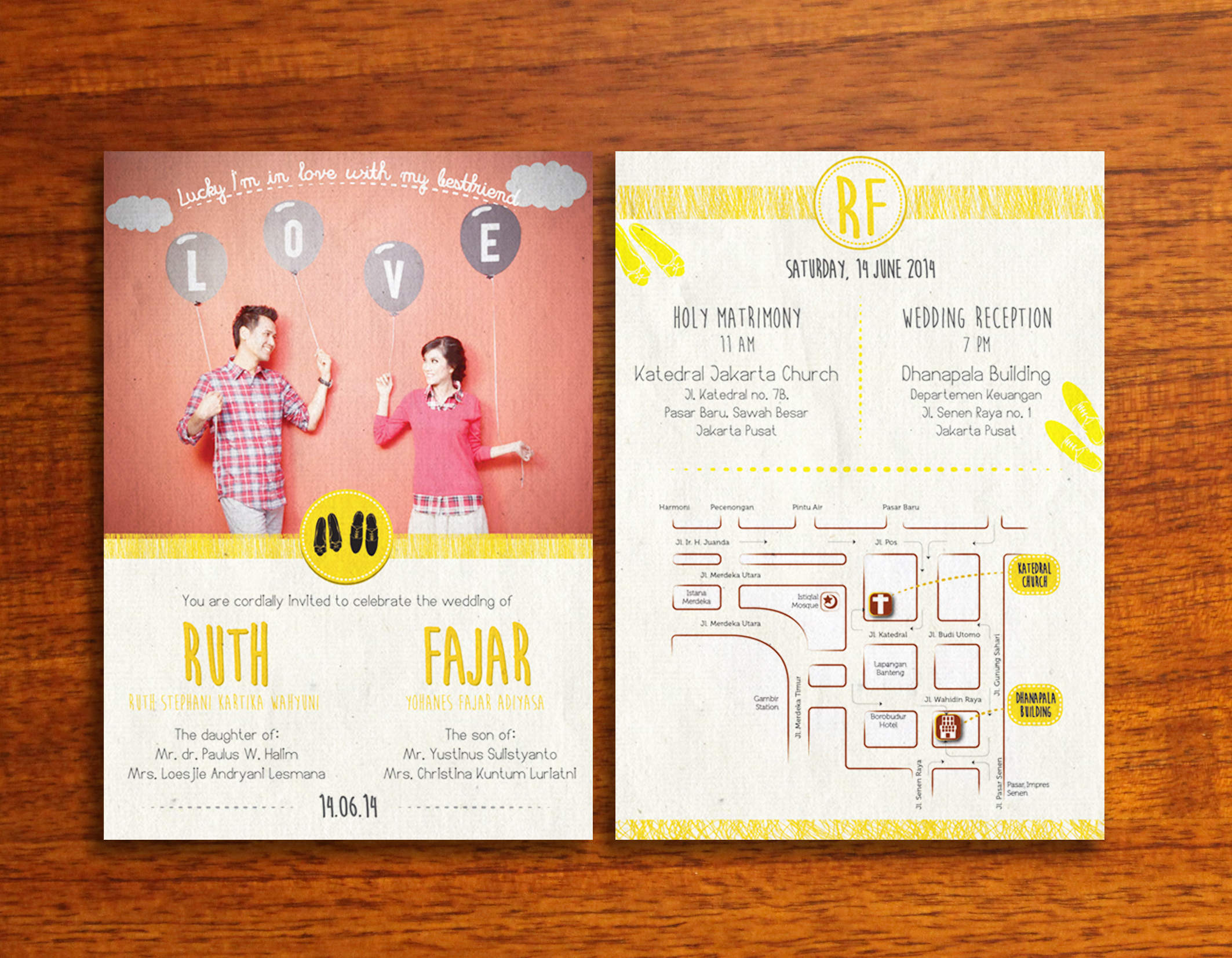 Hipster Themed Wedding Invitation